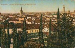 Verona Italia Panorama della citta visto dal giardino Giusti  1910