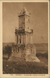 Dougga Dougga (Beja) Mausolée Libyco-Punique/Mausoleum, Grab-Denkmal 1910