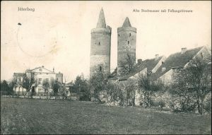 Ansichtskarte Jüterbog Alte Stadtmauer mit Festungstürmen 1915