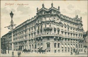 Ansichtskarte Stuttgart Hotel Marquardt - Straße 1913