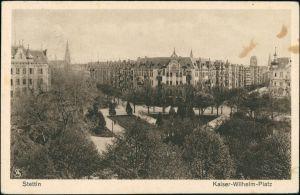 Postcard Stettin Szczecin Kaiser Wilhelmplatz - Straßen 1929
