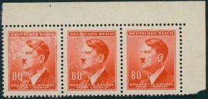 3 Briefmarken Adolf Hitler 80 H Böhmen und Mähren Deutsches Reich Michel-Nr.:94