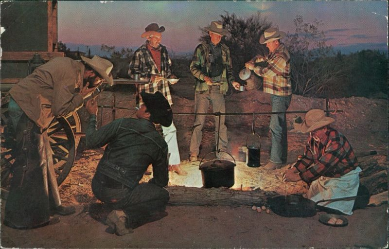 Ansichtskarte  CATTLE ROUND-UP of music and cofee with Cowboys 1966