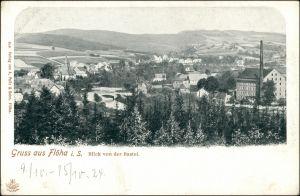 Ansichtskarte Flöha (Sachsen) Stadt, Fabrikanlage 1908