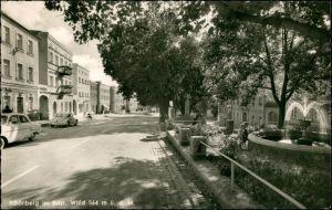 Ansichtskarte Schönberg (Niederbayern) Straßenpartie 1958