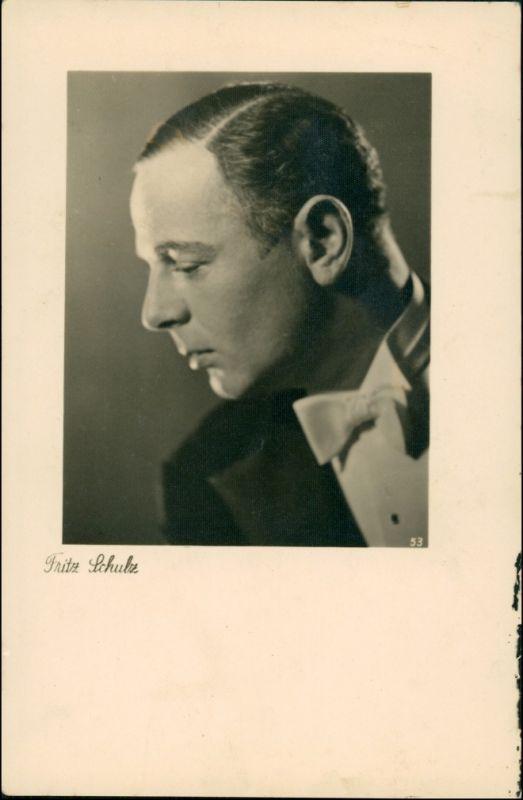 Film/Fernsehen/Theater - Schauspieler Fritz Schulz AK Autogrammkarte 1940 0