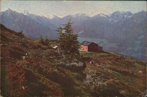 Ansichtskarte Igls Patscherkofel, Schutzhaus - Stimmungsbild 1915