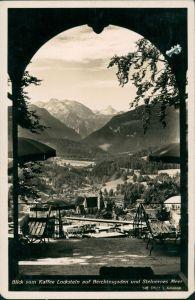 Berchtesgaden Blick vom Kaffee Lockstein auf Stadt und Steinernes Meer 1937