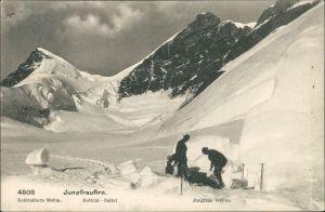 Lauterbrunnen Jungfrau (Berg) Bergsteiger Alpen  Rothtal-Sattel 1944
