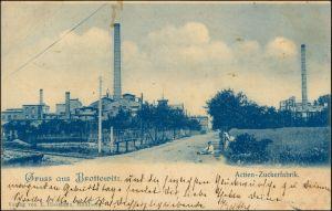 Ansichtskarte Brottewitz-Mühlberg/Elbe Miłota Actien Zuckerfabrik 1900