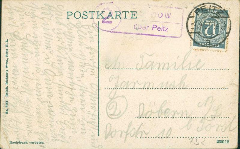 Ansichtskarte Peitz Picnjo Postamt und Molkerei 1922 1