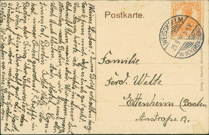 Weißkollm-Lohsa Běły Chołmc Łaz Försterei, Gärtnerei b Hoyerswerda 1916 1