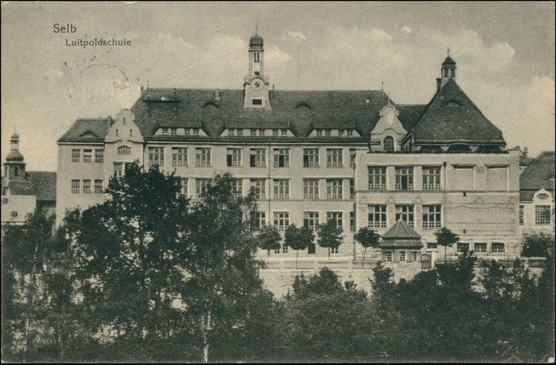 Ansichtskarte Selb Luitpoldschule 1922 0