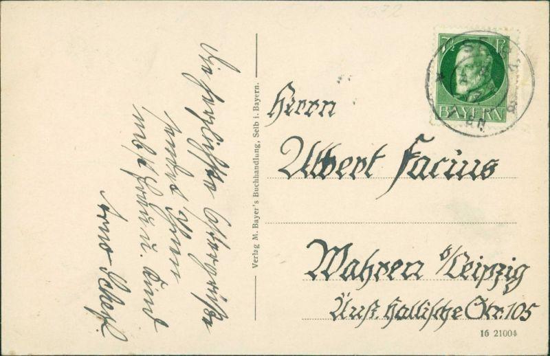 Ansichtskarte Selb Luitpoldschule 1922 1