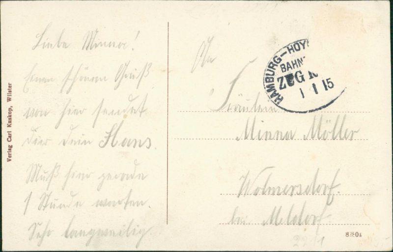 Ansichtskarte Sankt Margarethen (Holstein) Stadt, Straße - 2 Bild 1913 1