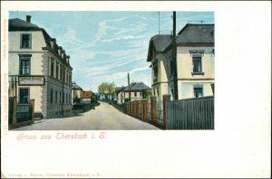 Ansichtskarte Ebersbach/Sa.-Ebersbach-Neugersdorf Straßenpartie 1909