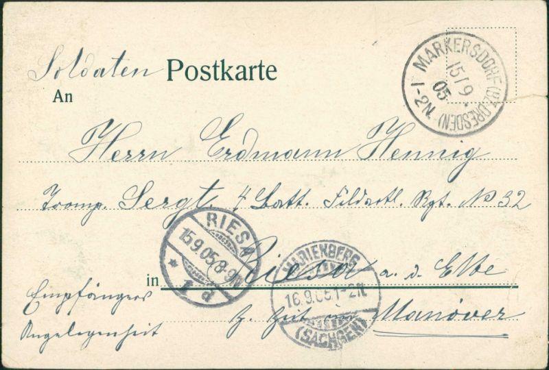 Litho AK Großschönau (Sachsen) Gruss aus.. Stadt Fabriken Oberlausitz 1905 1