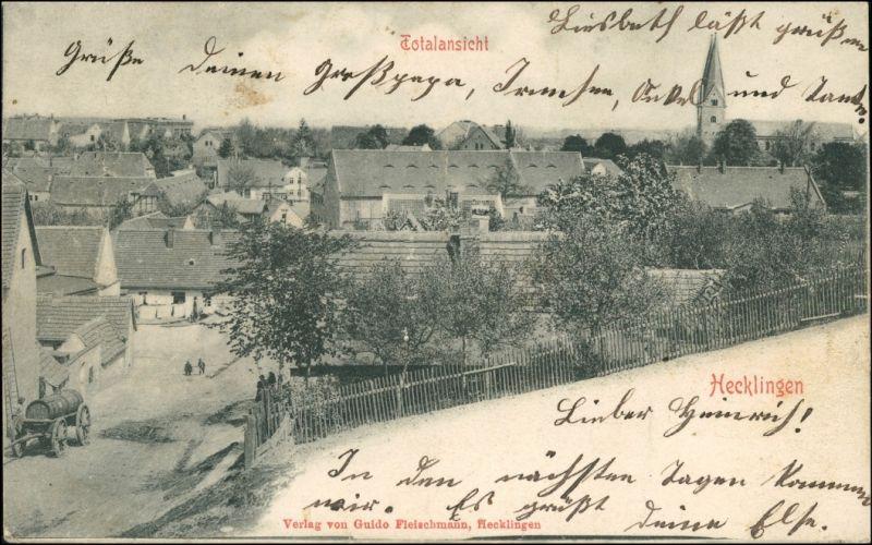 Ansichtskarte Hecklingen (Salzlandkreis) Straßenpartie 1911 0