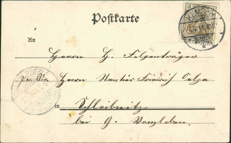 Ansichtskarte Hecklingen (Salzlandkreis) Straßenpartie 1911 1