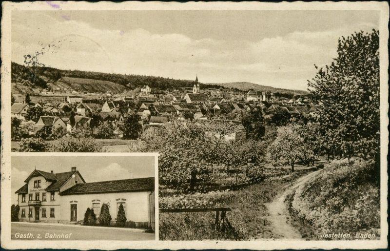 Ansichtskarte Jestetten 2 Bild Gasthof z. Bahnhof, Totale 1938 0