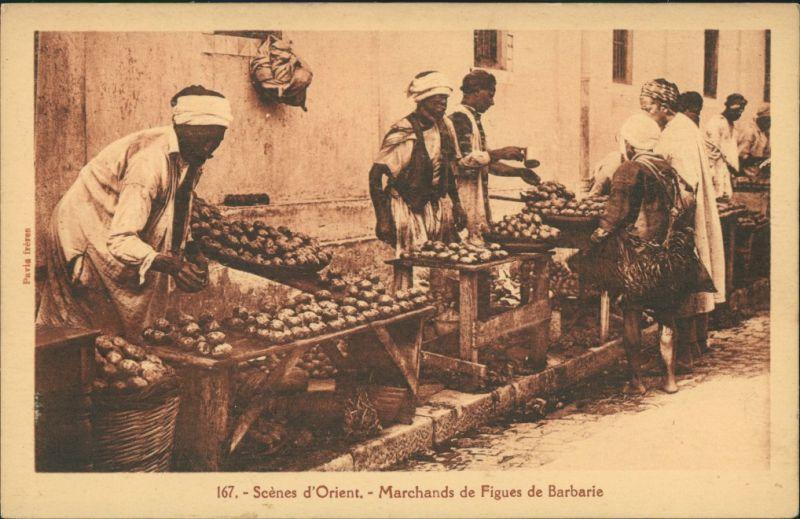 Scènes d`Orient Marchands de Figues Barbarie/Orient Händler Native Sellers 1910