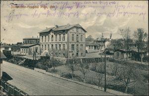 Ansichtskarte Plön Straße am Johanniter Hospital 1912