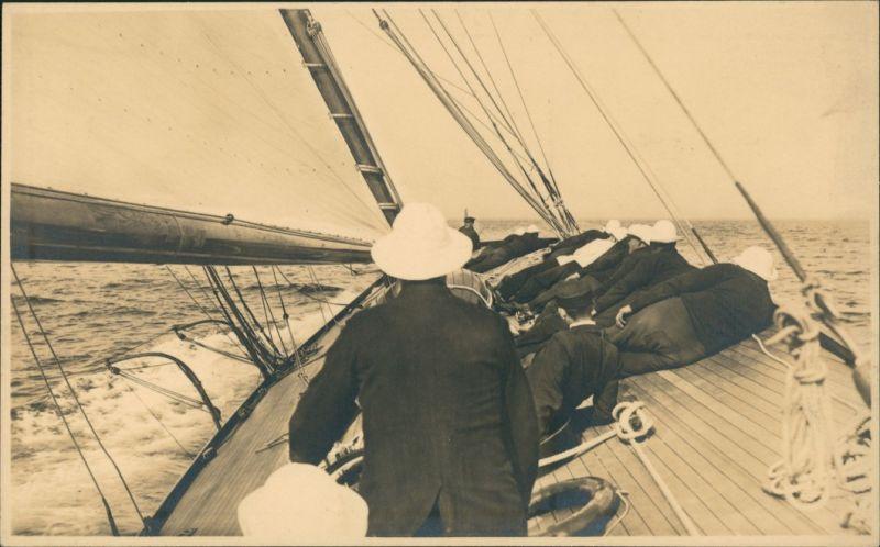 Schiffe/Schifffahrt - Segelschiffe/Segelboote AGFA Cromo Isolar Platte 1928