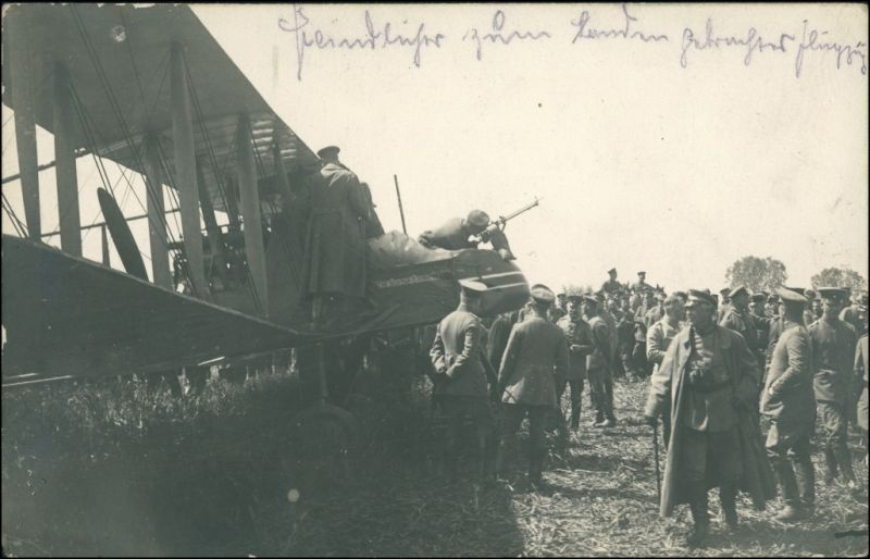 Foto  Soldaten Flugzeug Res Inf. Rgt 245 1916 Privatfoto