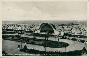 Postcard Swinemünde Świnoujście Konzertplatz - Musikmuschel 1934