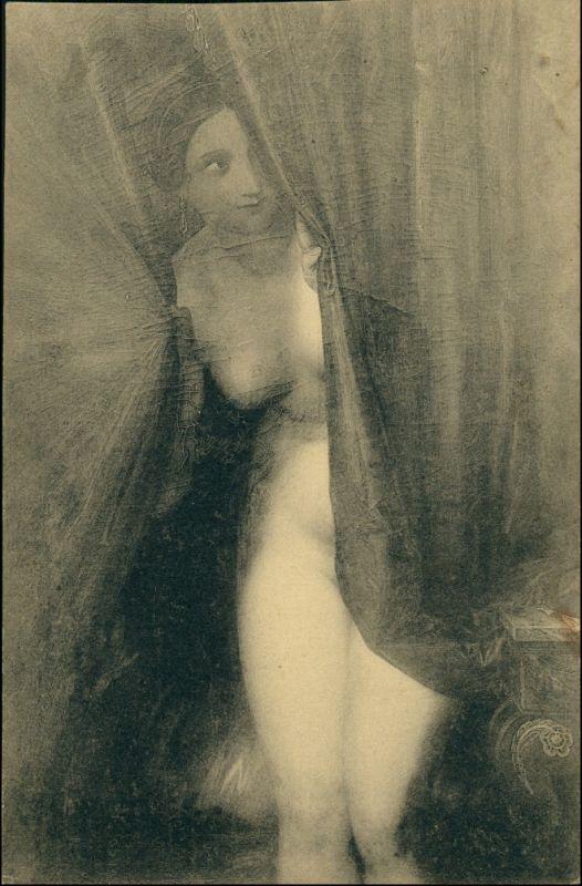 Ansichtskarte  Gemälde In Erwartung Musee Wiertz Erotik (Nackt - Nude) 1912