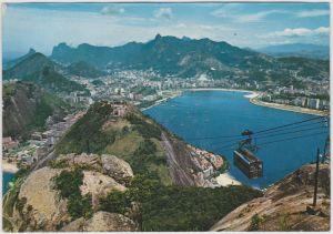 Rio de Janeiro Blick vom Zuckerhut 1970