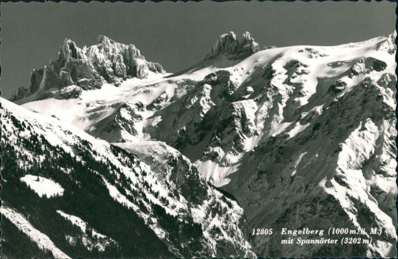Innertkirchen Alpen  Umlandansicht Engelberg mit Spannörter (Alpen Berge) 1960