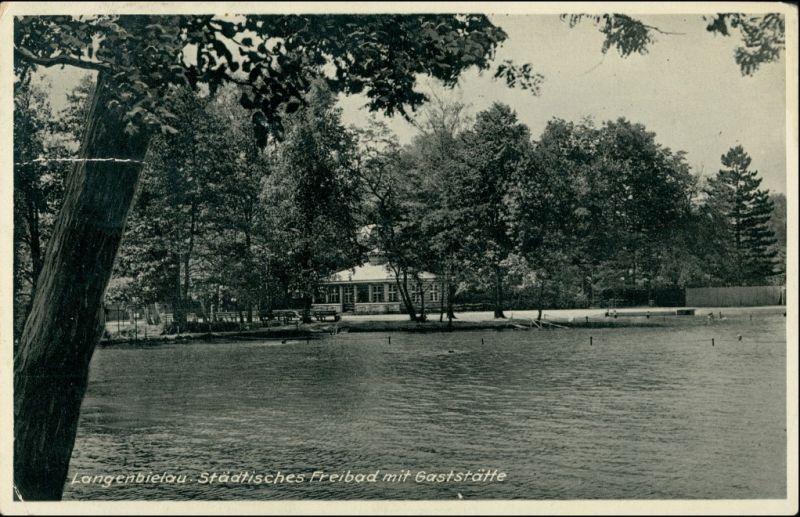 Postcard Langenbielau Bielawa Freibad und Gaststätte 1938