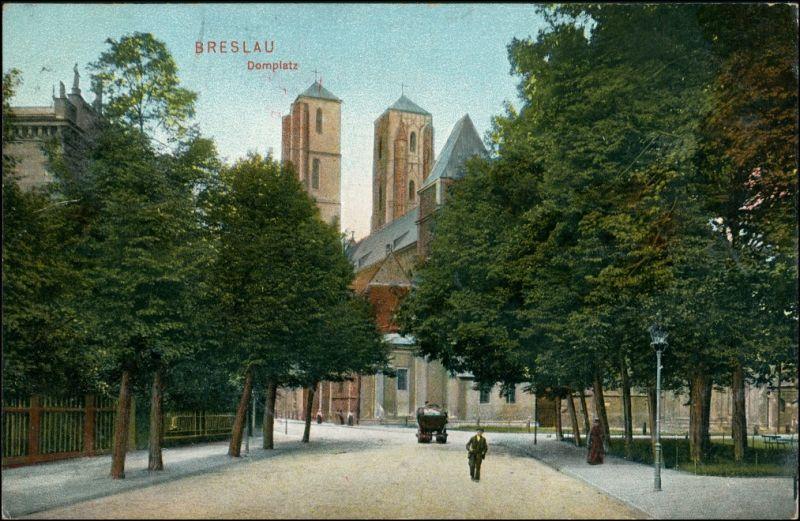 Postcard Breslau Wrocław Domplatz 1916