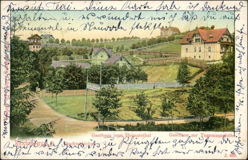 Postcard Reichenberg Liberec Gaststätte im Heimatthal 1907