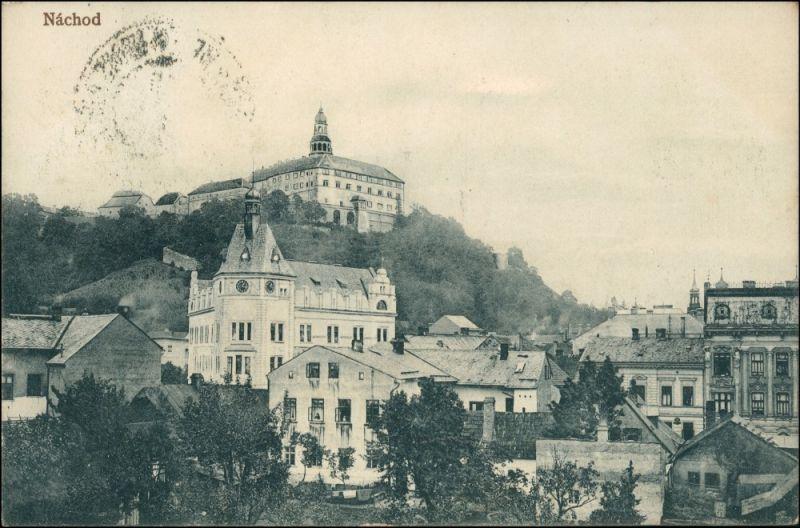Postcard Nachod Náchod Partie in der Stadt 1909