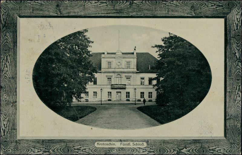 Postcard Krotoschin Krotoszyn Schloß 1913 Passepartout
