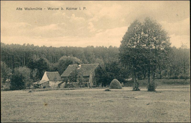 Postcard Warow (bei Kolmar i. Posen) Chodzież Walkmühle 1912