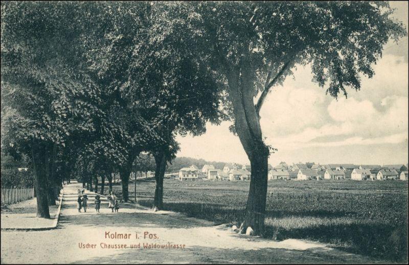 Kolmar in Posen (Chodziesen Colmar) Chodzież Uscher Chaussee, Waldowstraße 1912