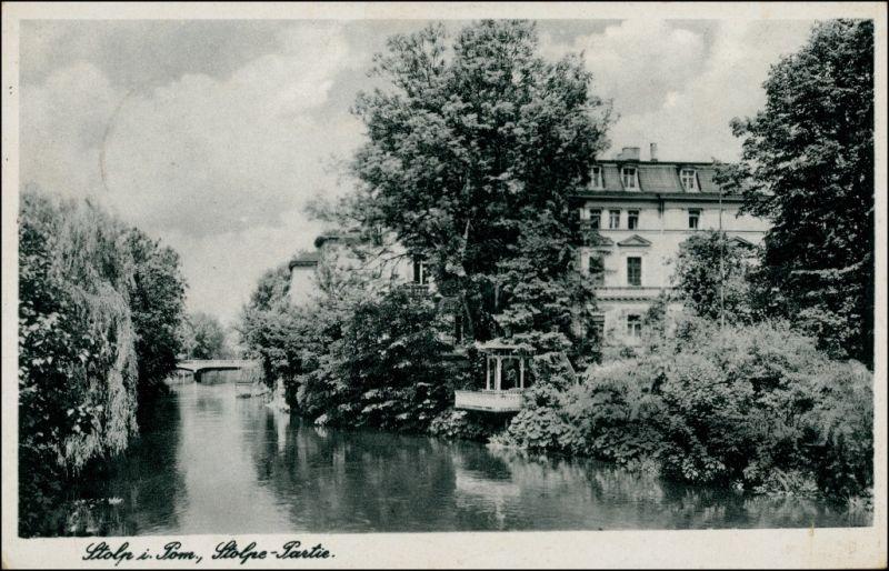 Postcard Stolp Słupsk Stolpepartie Häuser 1944
