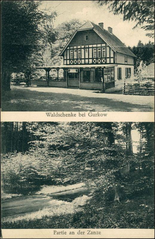 Postcard Gurkow Górki Notecki 2 Bild Waldschänke Umland 1929