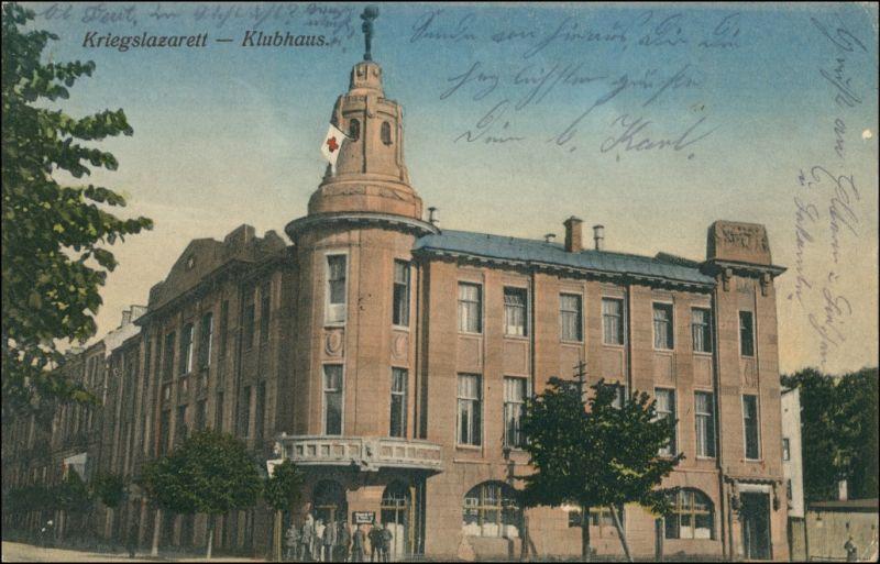 Postcard Wilna Wilno Vilnius Lazarett und Klubhaus - Stempel 1916