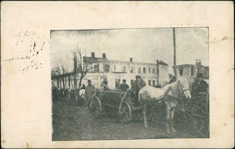 Włodzimierz Wołyński Володимир-Волинський Gespann - Feldpost 1916
