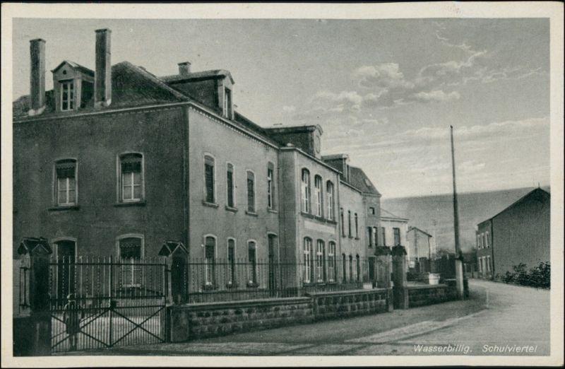 Postcard Wasserbillig Waasserbëlleg Schulviertel 1937