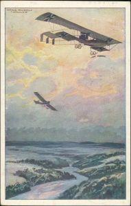 Ansichtskarte  Doppeldecker - Künstlerkarte WK 1 1916
