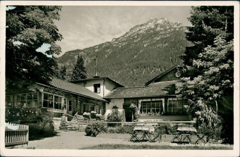 Garmisch-Garmisch-Partenkirchen Almhütte Restauration bei Garmisch 1955