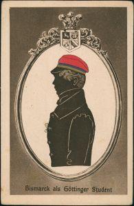Ansichtskarte Göttingen Bismarck als Göttinger Student - Scherenschnitt 1922