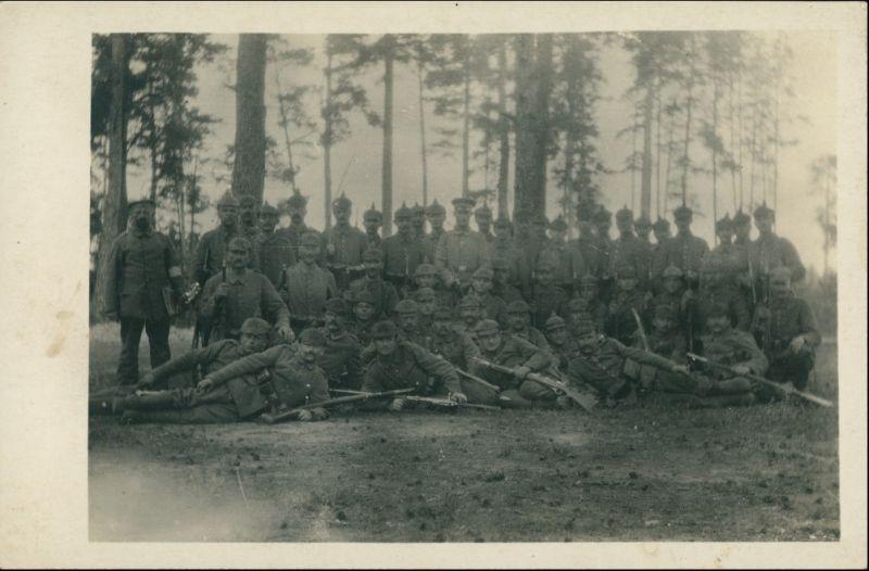 Militär/Propaganda 1.WK (Erster Weltkrieg) Gruppenbild Pickelhaube wk1 1915 Privatfoto