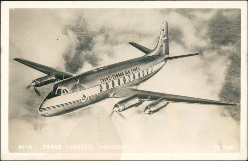 Ansichtskarte  Flugwesen - Flugzeuge Trand Canada Airlines 1955