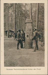 Militär Propaganda Soldatenleben Nachrichtendienst hinter Front WK1 1915